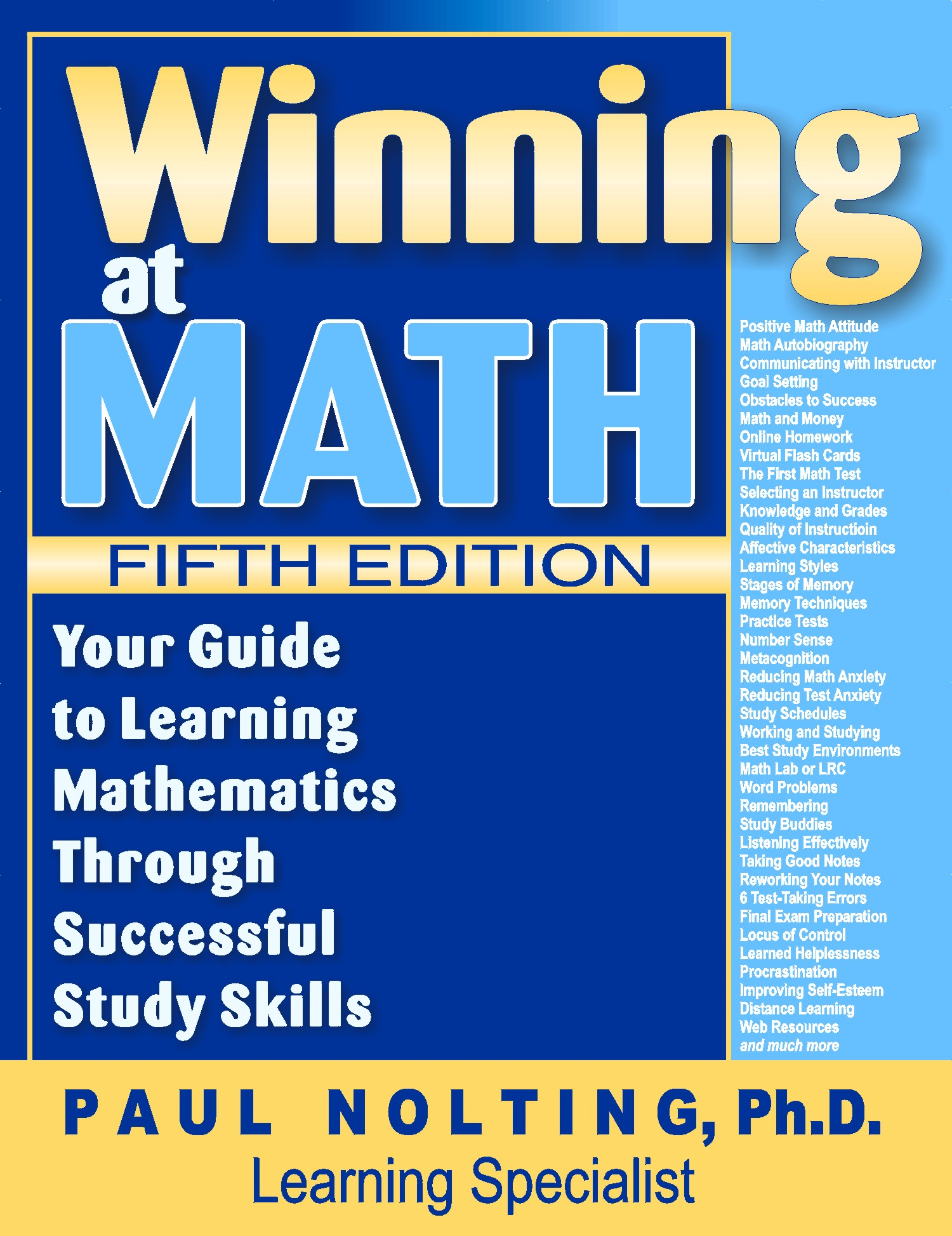 Winning at Math 5th Edition: Study Skills Computer Evaluation So